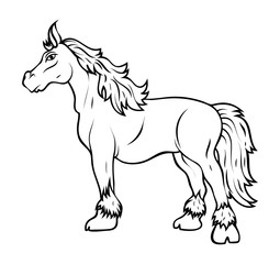 Horse Vector Drawing