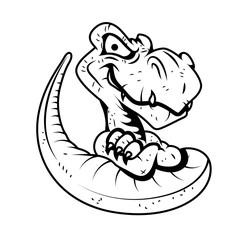 dinosaur mascot  Cartoon Vector Drawing