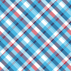 Turquoise seamless pattern check plaid fabric texture madras