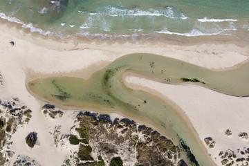 Il fiume Idume sfocia nel mare - Salento