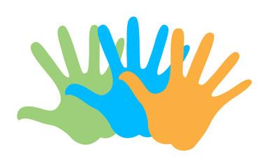Colorful Hands Shape