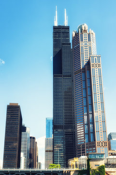 The Willis Tower,  known as the Sears Tower