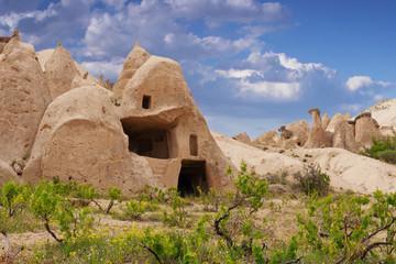 Cave town near Goreme. Cappadocia
