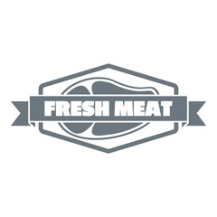 Fresh meat product logo, simple style