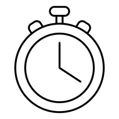 Stopwatch icon , outline style
