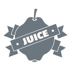 Fruit juice logo, simple style