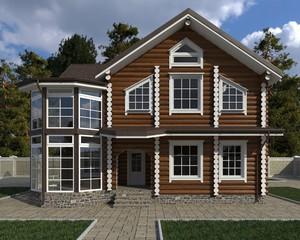 House Photorealistic Render 3D Illustration