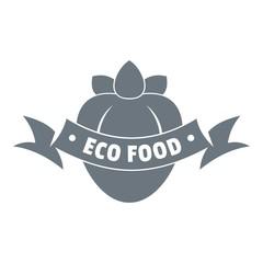 Eco fresh food logo, simple style