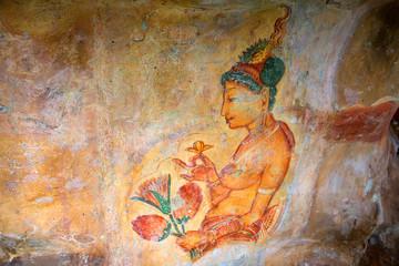 Sigiriya murals of fifth century