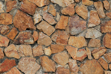 Brown stone surface of wall background.
