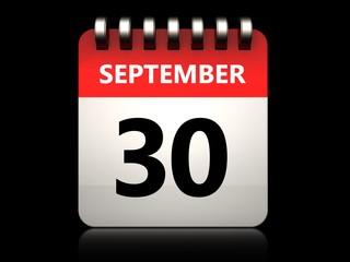 3d 30 september calendar