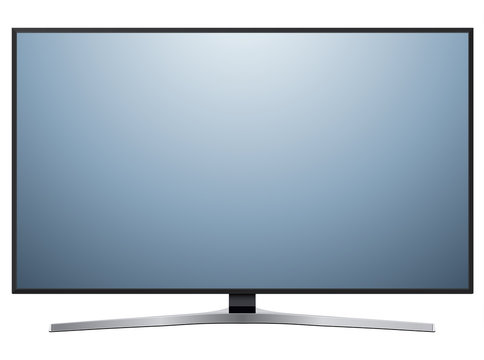 TV, modern flat screen lcd, led television isolated
