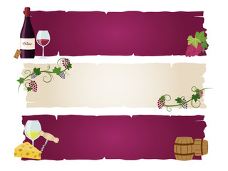 ワインのバナー素材セット
