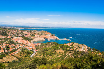 Vue panoramique de Collioure du haut du Fort Saint-Elme