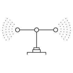 transmission antenna icon in monochrome silhouette vector illustration