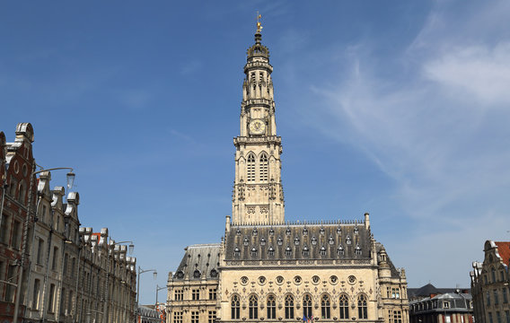 Town hall and belfry of Arras, France
