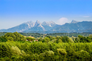 Wall Mural - Summer panorama of Apennines mountains, Italy