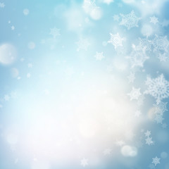 Winter Holiday Snow Template. EPS 10 vector