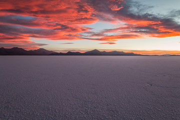 Sunset in Salar Uyuni