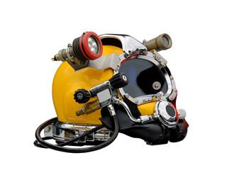 l helmet of the diver.