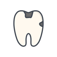dentist colored icon tooth teeth caries