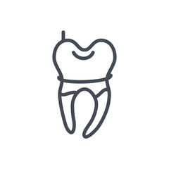 dentist line icon baby tooth