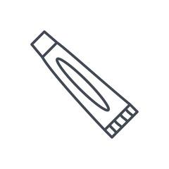 dentist line icon toothpaste