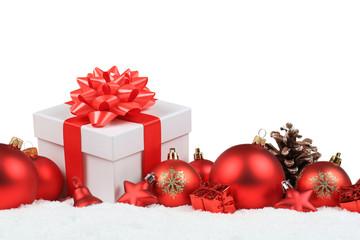 Weihnachten Geschenke Weihnachtsgeschenke Dekoration Winter Schnee Freisteller
