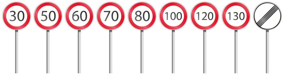 Geschwindigkeiten Set mit Stange