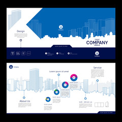 Brochure template design. Company profile. Concept of architecture design. Vector illustration