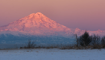 Mt Redoubt at Dawn