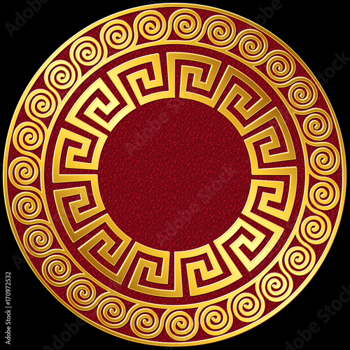 051e44140a94 Traditional vintage Golden round Greek ornament