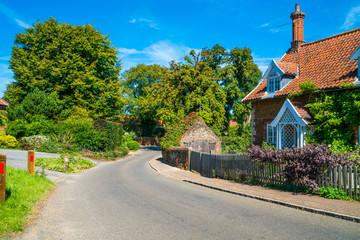 Castle Rising village, Norfolk, UK