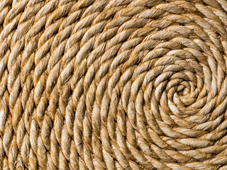 Spiral woven straw texture background