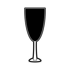 flat line  monocromatic  wine  glass over  white  background  vector illustration