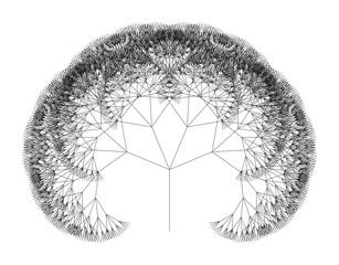 Flat Vector Computer Generated   L-system Fractal Tree - Generative Art