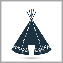Indians wigwam simple icon