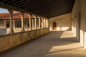 The Cloister of catholic monastery of Alcobaca, Portugal.