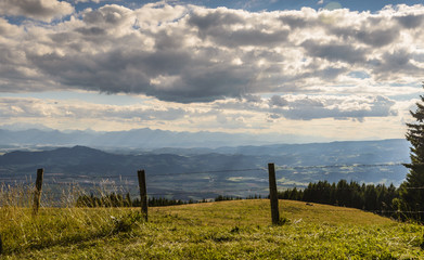 Beautiful landscape with mountains and dramatic sky.Carinthia,Austria.
