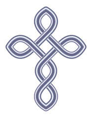 Celtic Cross - Vector Ancient Pagan Scandinavian Sacred Knotwork X Symbol