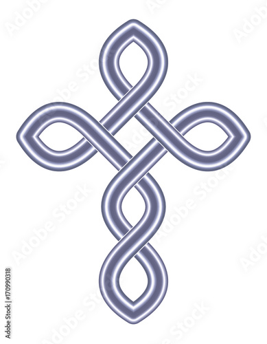 Celtic Cross Vector Ancient Pagan Scandinavian Sacred Knotwork X