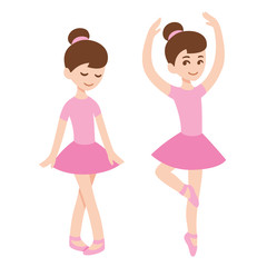 Cute ballerina girls