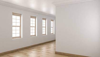 Unfurnished Building Interior with Single Hung Windows