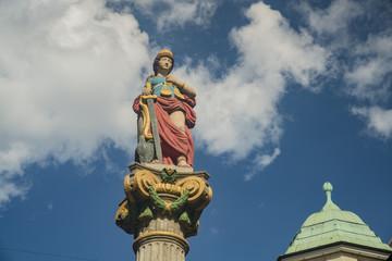 Historical statue of Justitiabrunnen