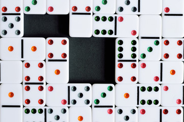colorful domino texture with two spaces
