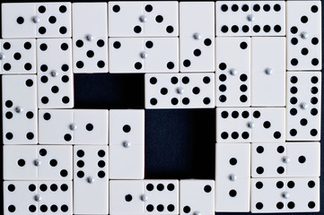 domino texture with two spaces