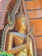 Close Up Buddha statue Wat Tham Seua..