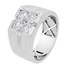 engagement ring with diamonds and white gold, jewelry band
