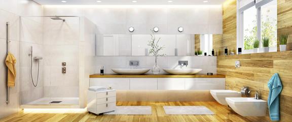 big and bright bathroom