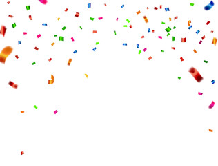 confetti and Colorful ribbons. Vector illustration. concept Celebration background. template with isolated.